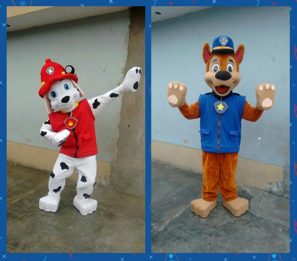 Alquiler de personajes muñecos de la Patrulla Canina